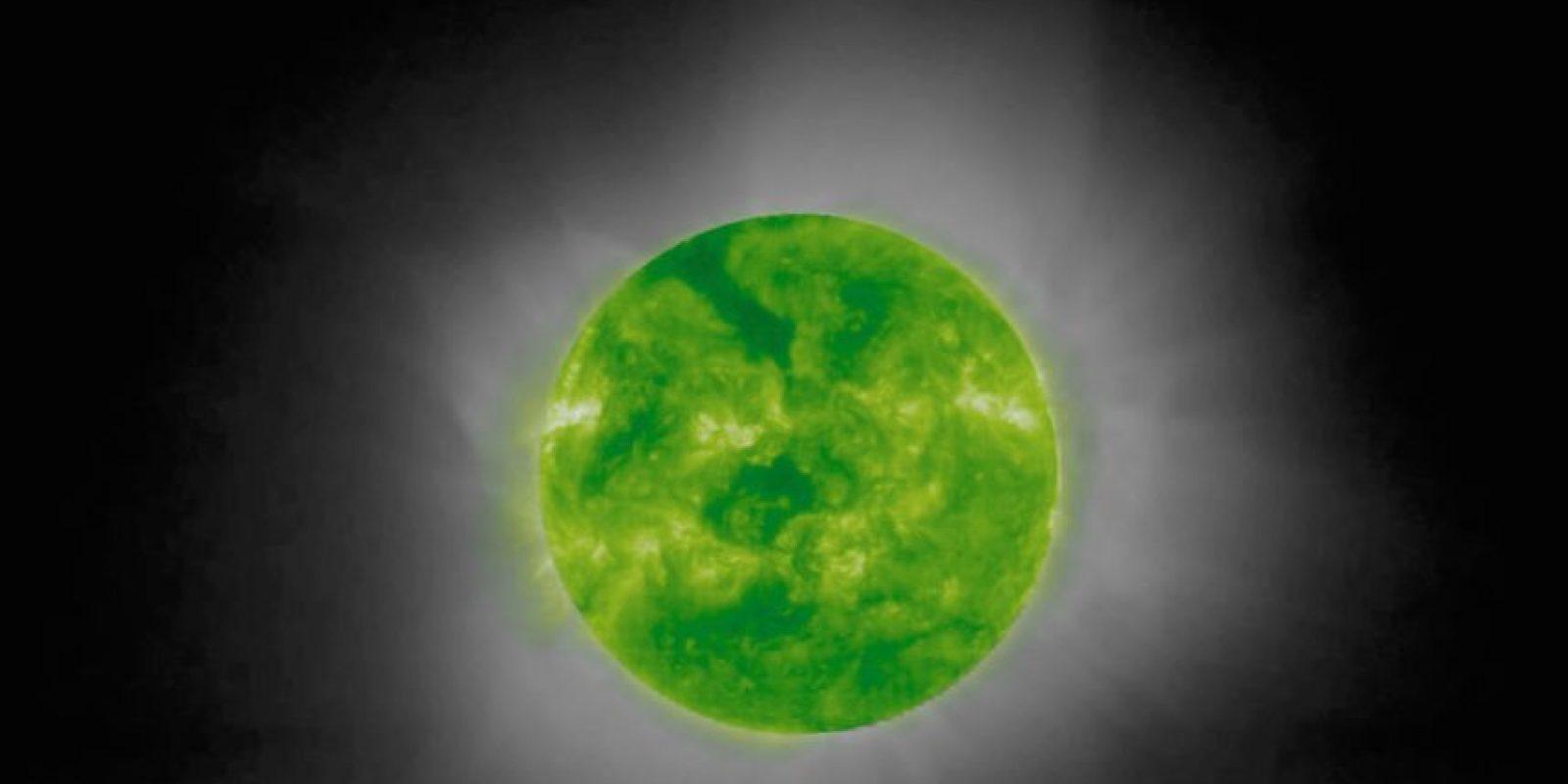 Esta es una foto cromática del sol durante un eclipse solar. Foto:Getty