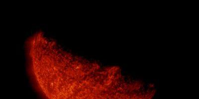 Acercamiento del eclipse solar desde el espacio. Foto:Vía http://www.nasa.gov/