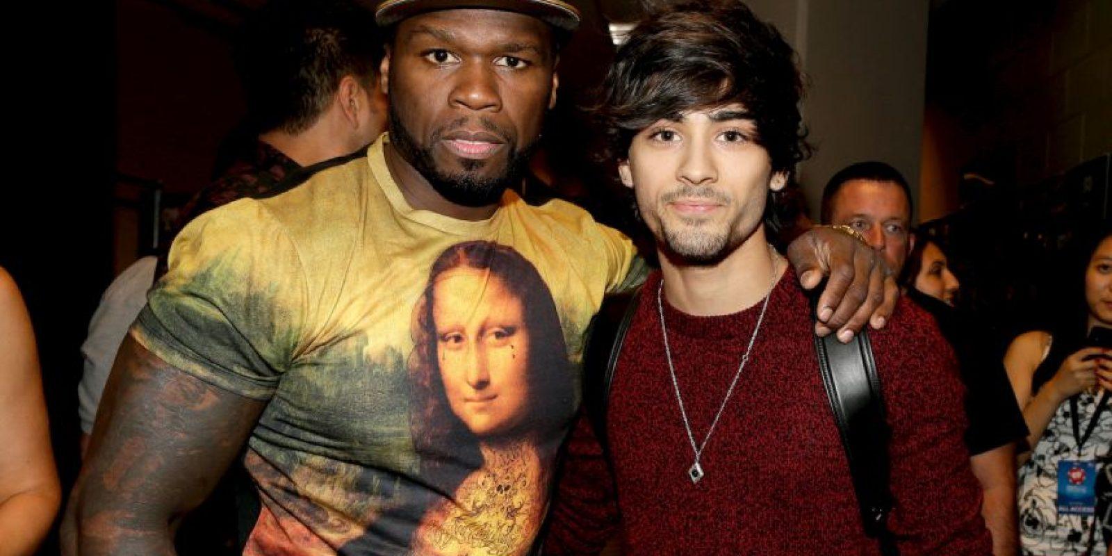 Junto al rapero 50 Cent Foto:Getty Images