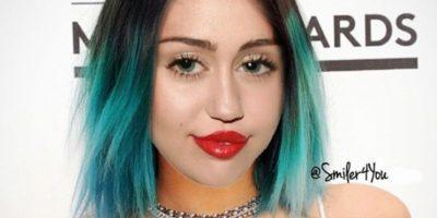 9.- Con este montaje, la cantante se burló del cabello y los labios de Kyie Jenner Foto:Instagram @mileycyrus