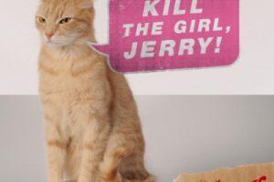 En la película, el gato intenta convencerlo de que se convierta en asesino serial. Foto:Vía Twitter @TheVoicesMovie