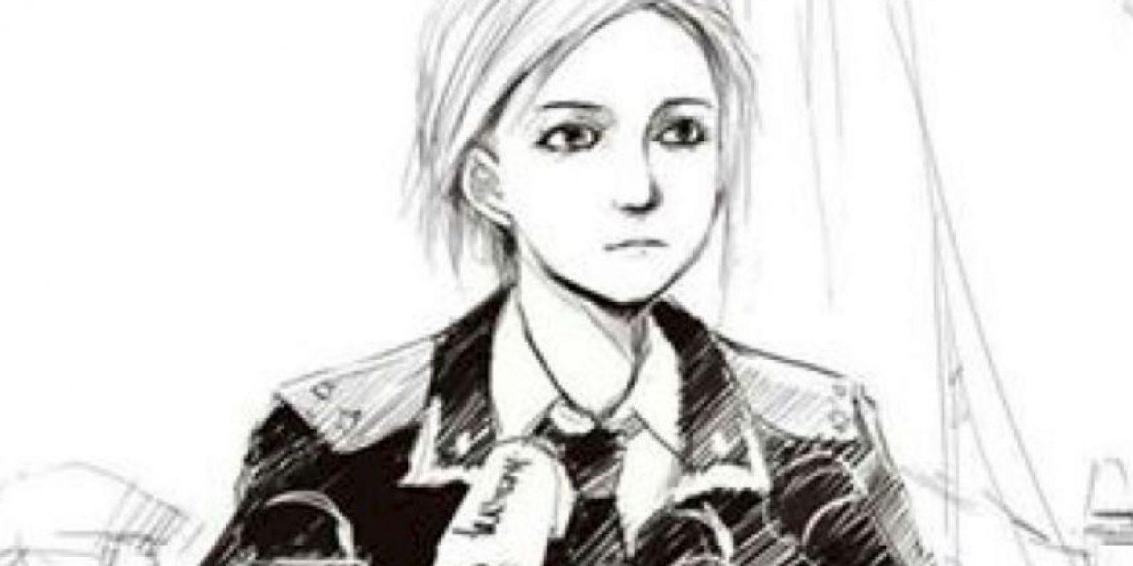 A la Procuradora de Crimea le han hecho retratos al estilo manga, debido a su apariencia física. Foto:Facebook