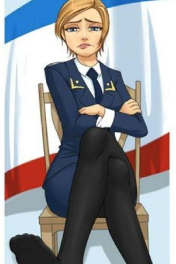 Natalia Poklónskaya, procuradora de Crimea es objeto de culto de fans japoneses que hacen dibujos de ella en la web. Foto:Facebook