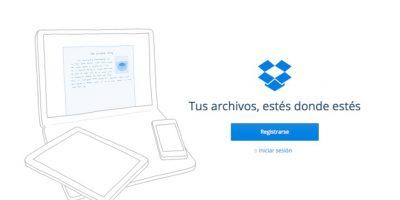 Dropbox es la opción más conocida de almacenamiento en al nube, pero no es la única. Foto:https://dropbox.com/