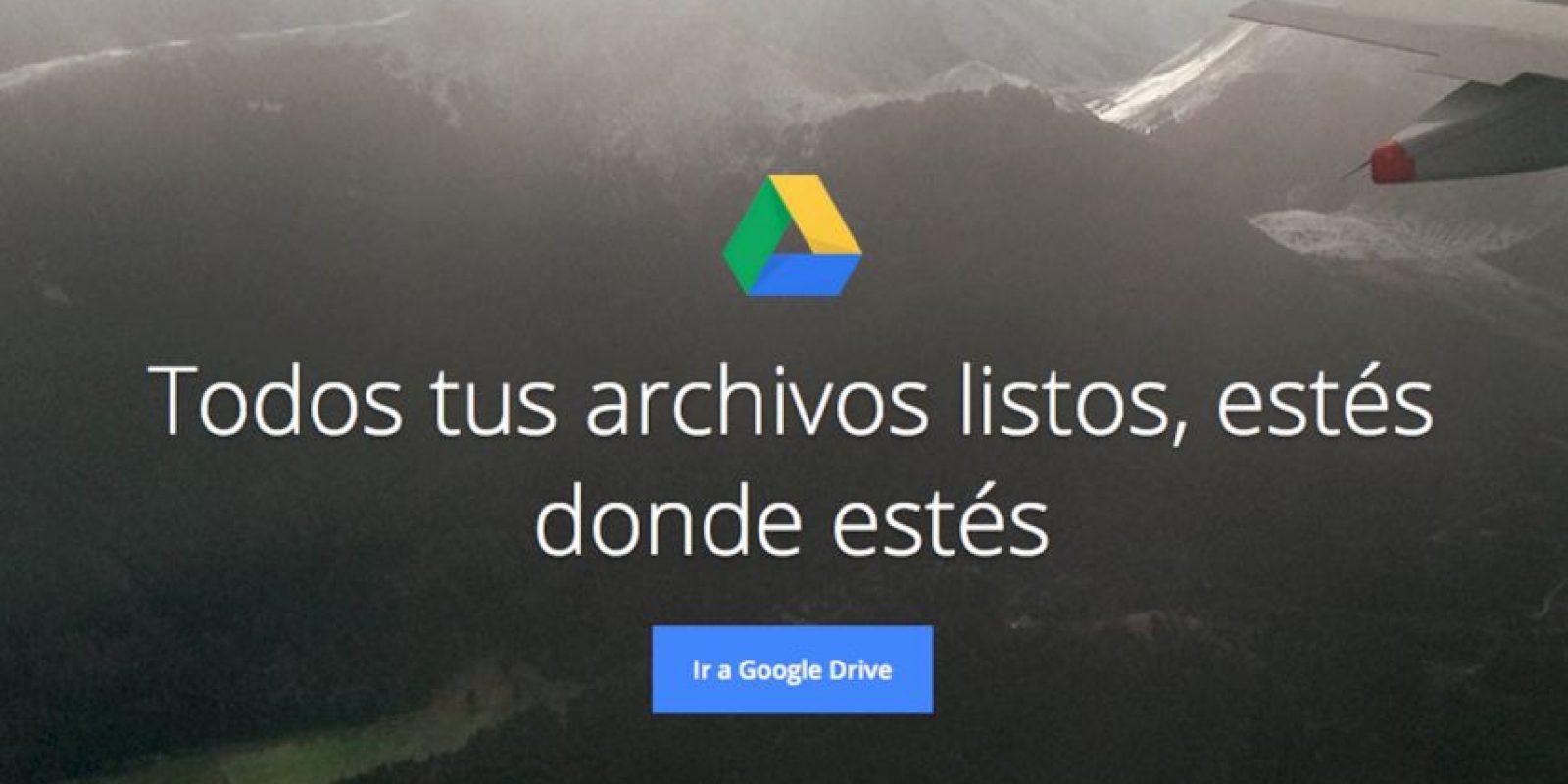 Google Drive funciona de maravilla si les gusta trabajar en equipo o a distancia. Foto:https://www.google.com/intl/es/drive/