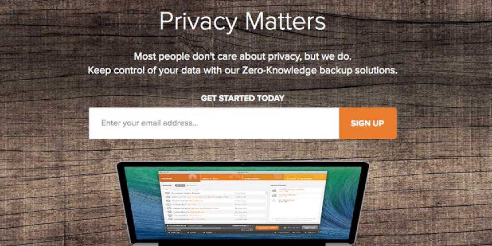 Spideroak es un sitio que donde pueden almacenar documentos con sólo abrir una cuenta. Foto:https://spideroak.com/