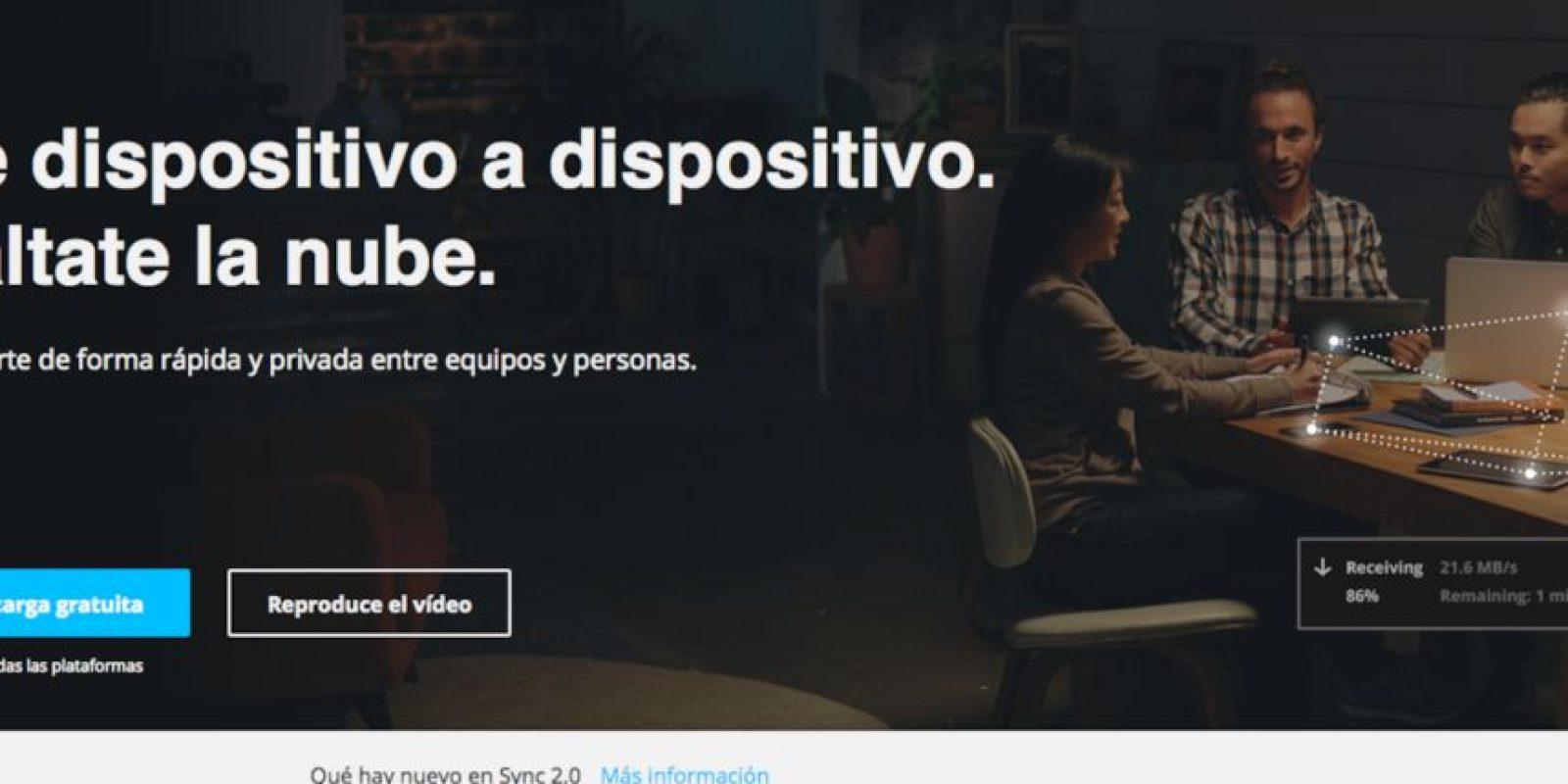 Sync es una alternativa que usa las redes sociales para su comodidad. Foto:https://www.getsync.com/intl/es/