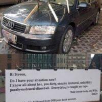 Rayar el auto. Foto:Reddit