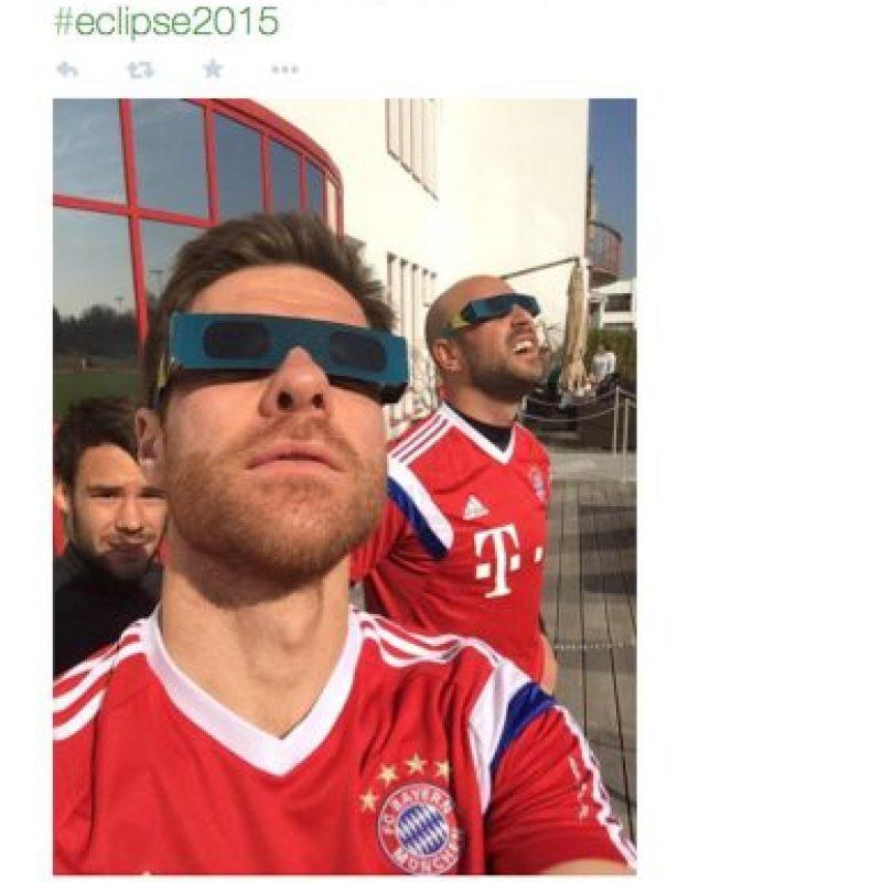 El club de futbol alemán Bayern München también disfruto del evento. La foto fue publicada por el diario deportivo La Afición. Foto:Twitter @ROVozAficion