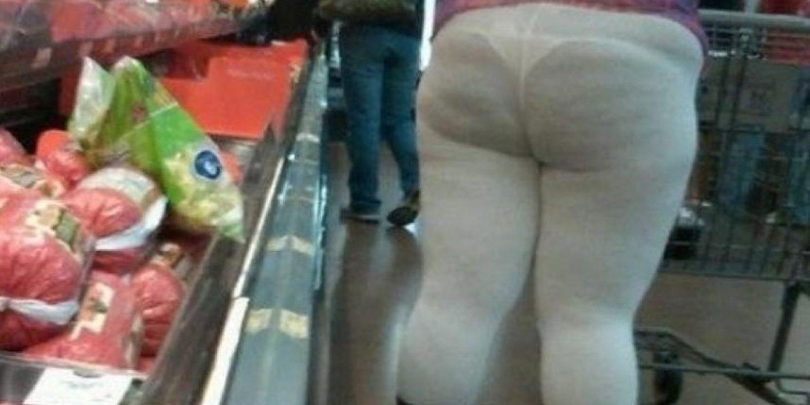 Esos leggins tan problemáticos para algunas… Foto:Funny Pics