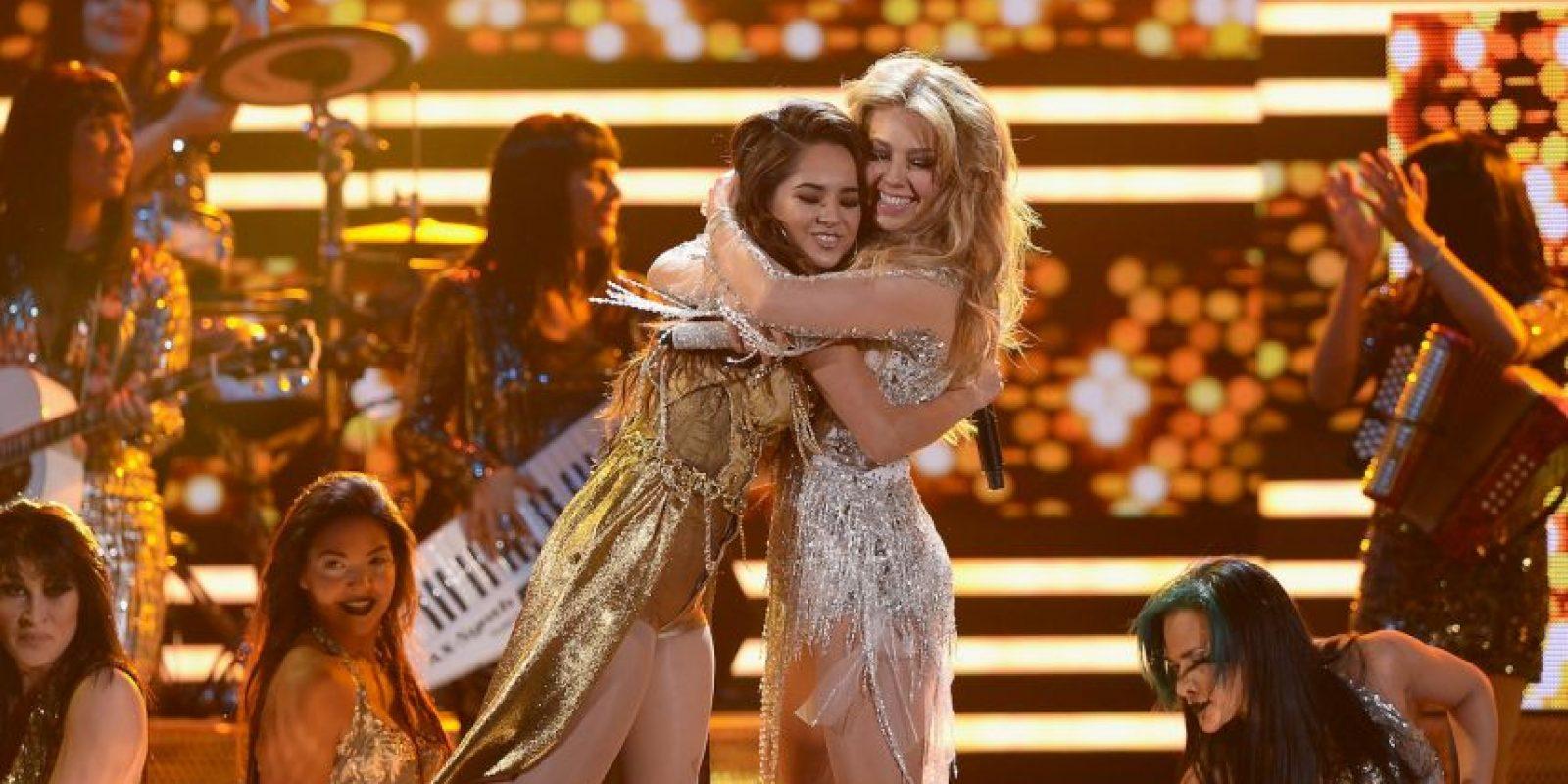 Thalia y Becky G ya se habían presentado juntas en los Premios Lo Nuestro Foto:Getty