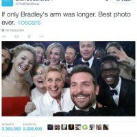 El tuit más retuiteado de la historia fue el selfie durante los Premios Oscar 2014. Foto:twitter.com/TheEllenShow