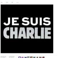 El tuit de Joachim Roncin se convirtió en un grito de guerra por la libertad de expresión tras el ataque de las oficinas de la revista francesa Charlie Hebdo. Foto:twitter.com/joachimroncin