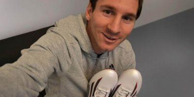 Messi está listo para el encuentro. Foto:Adidas