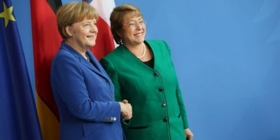 Con Angela Merkel, Canciller alemana Foto: Getty Images