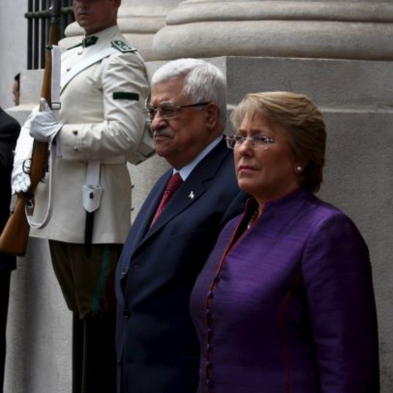 Con Mahmoud Abbas, de Palestina Foto: Getty Images