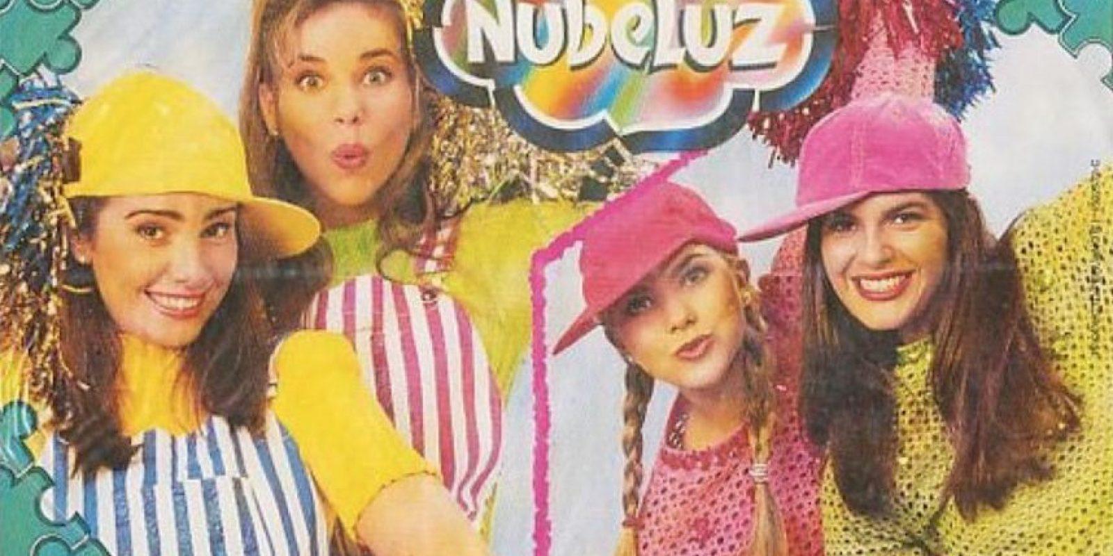 """Alemndra Gomelsky, Lilianne Kubiliun, Xiomara Xibille y Mónica Santa María. Dalinas de """"Nubeluz"""" entre 1990 y 1995 Foto:Coveralia"""