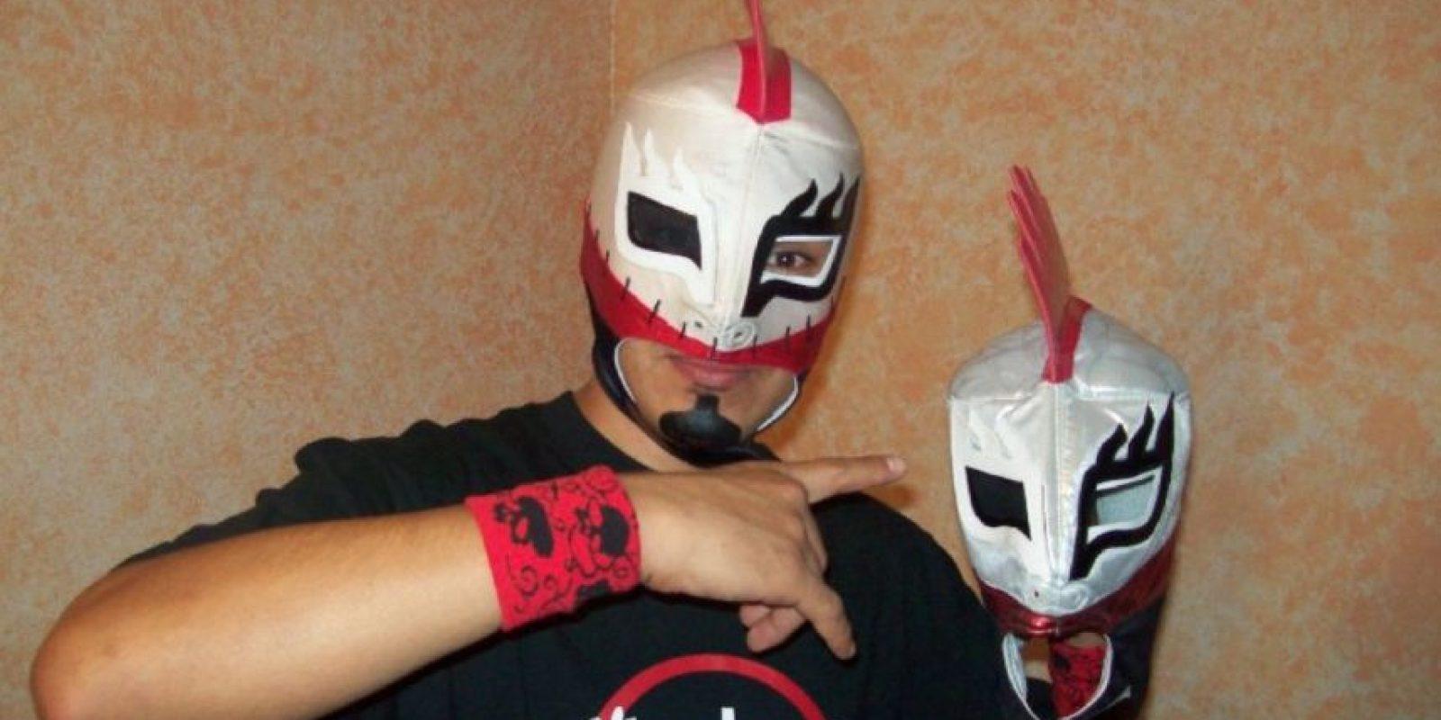"""""""Tacubo luchador"""" dice tajantemente que la lucha libre no es un juego. Foto:facebook.com/eltacubo"""