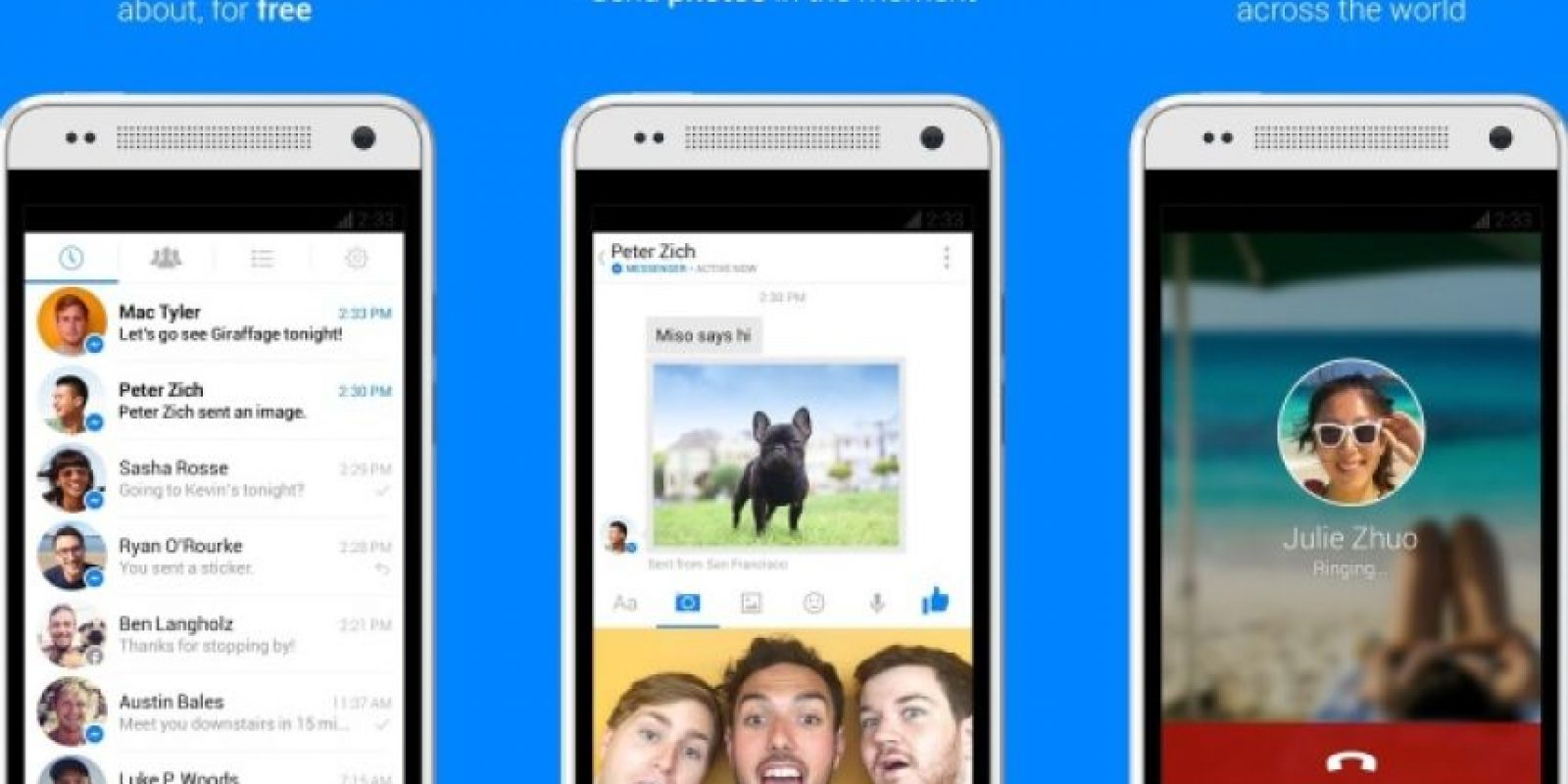 Messenger de Facebook hace mucho tiempo que contiene la opción de video llamada en sus características. Foto:Google Paly