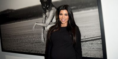 Kourtney intenta llamar la atención del público Foto: Getty