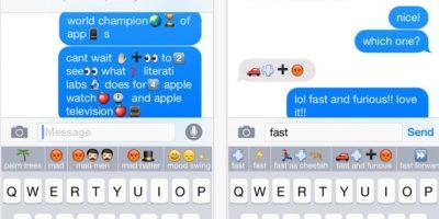 Emoji es un keyboard muy divertido que permite mezclar letras y emojis sin necesidad de otras aplicaciones. Foto:Literati Labs, Inc.