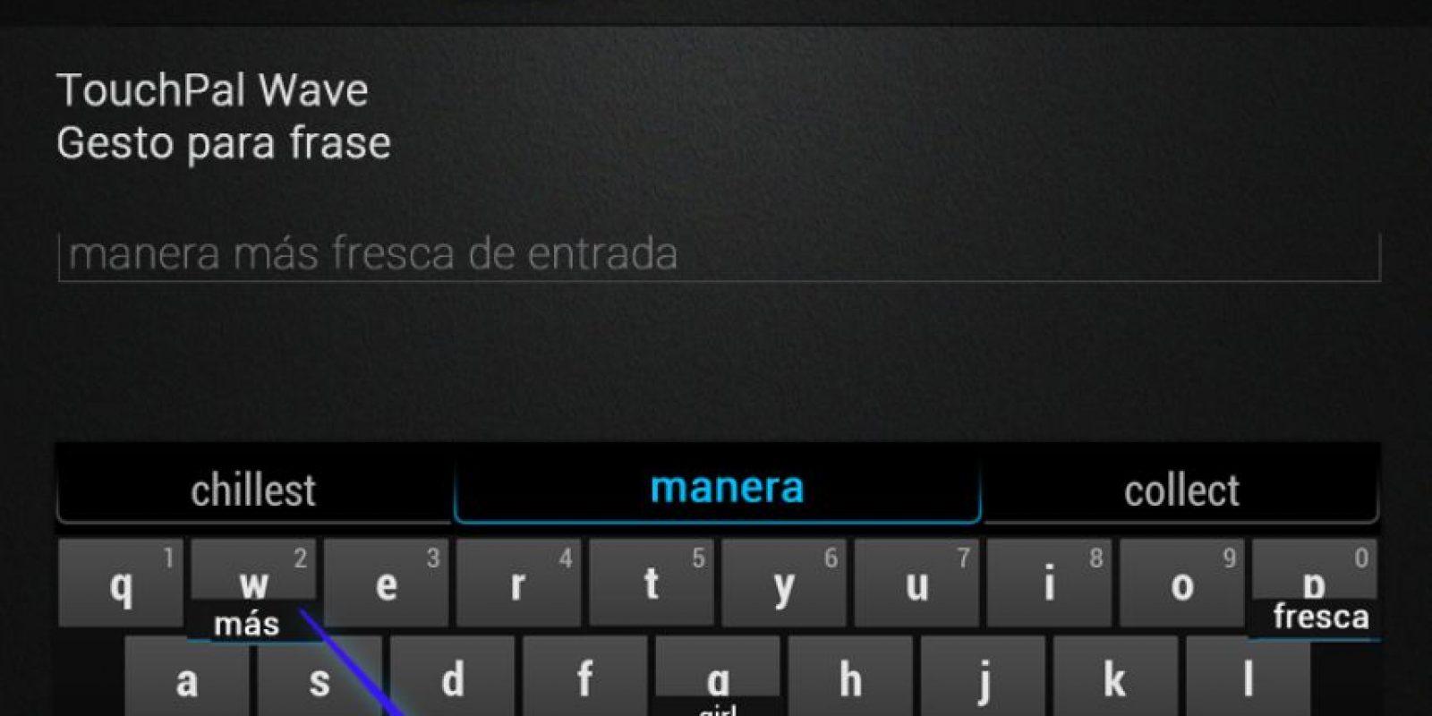 TouchPal permite mezclar emojis y texto solo para Android. Foto:TouchPal