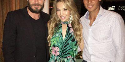 Thalía a lado de David Beckham y Rafa Nadal Foto:Vía instagram @Thalia