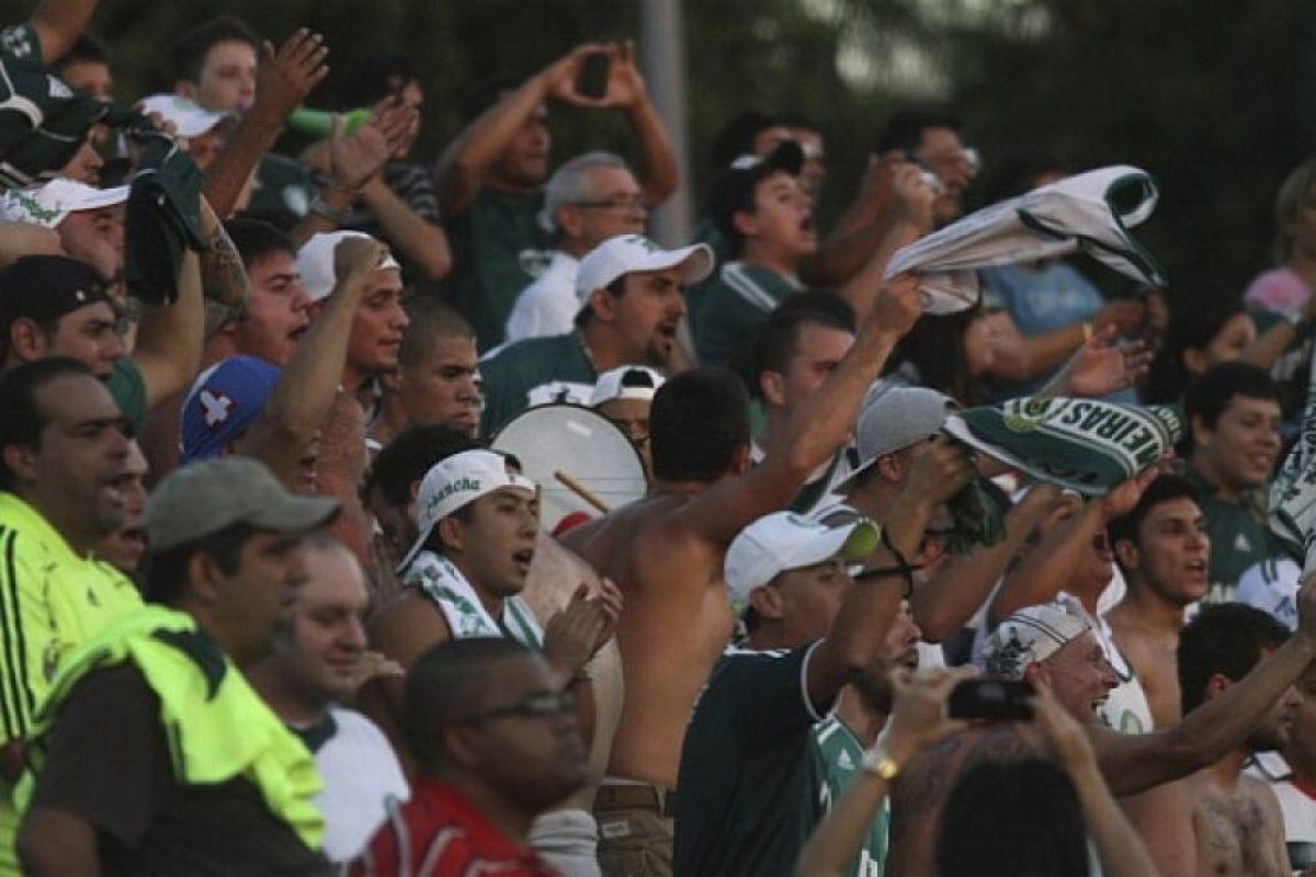 6. Palmeiras. Los seguidores increparon a los futbolistas en marzo del año pasado, luego de que cayeran en el último minuto ante Tigre de Argentina, en la Copa Libertadores Foto:Getty Images