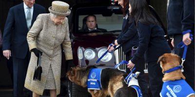 La Reina Isabel II disfruta la cercanía de los canes Foto:Getty Images