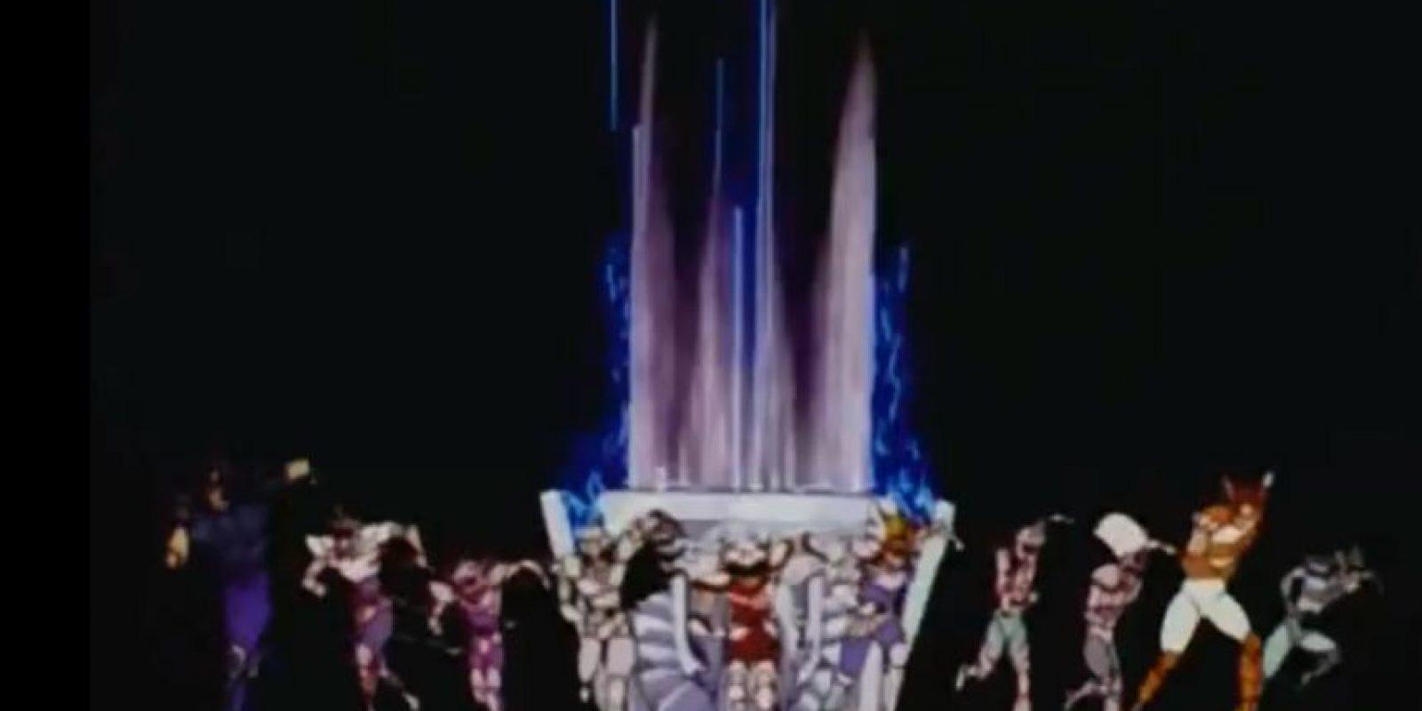 """Este es el famoso """"opening"""" de Caballeros del Zodiaco Foto:Shueisha"""