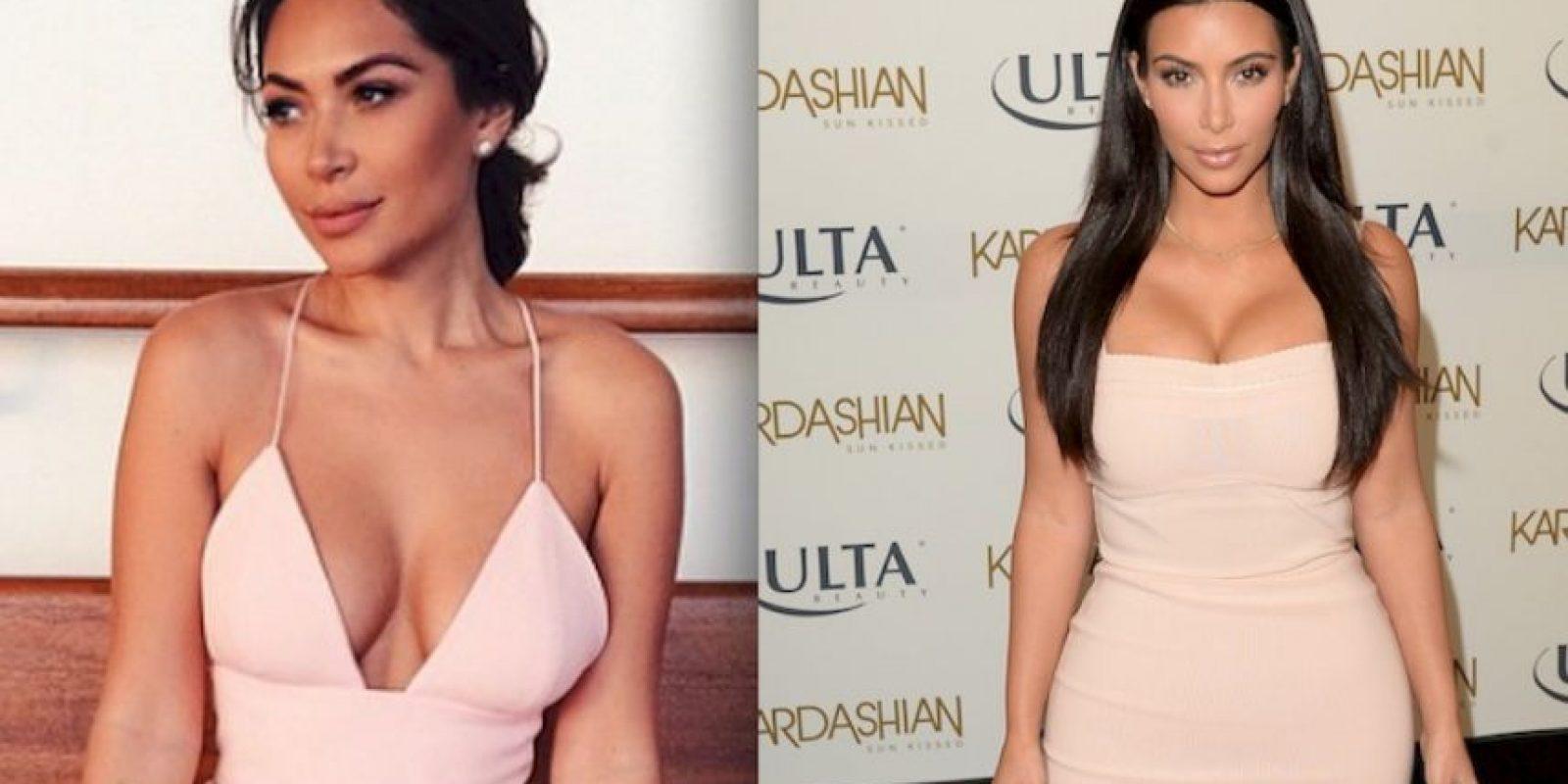 Marianna Hewitt es una bloguera especializada en moda y maquillaje, esta mujer es muy parecida a Kim Kardashian Foto:Instagram /Getty Images