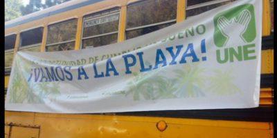 Usuarios denuncian buses de la UNE que moviliza personas a la playa