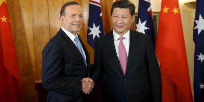 Presidente Xi Jinping y el Primer Ministro de Australia Tony Abbott Foto:Getty