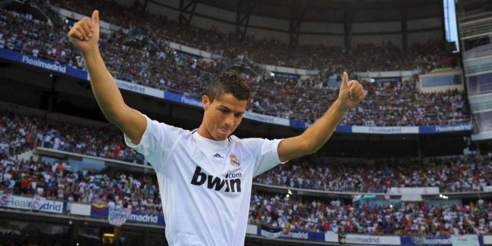 Así lucía el crack portugués a su llegada al Real Madrid, en 2009. Foto:Getty Images