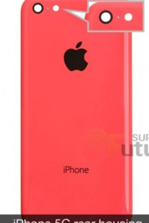 El flash del iPhone 5C es redondo. Foto: futuresupplier.com