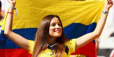 Estas bellas mujeres aparecen en cualquier partido que juegue la Selección de Colombia. Foto:Getty Images