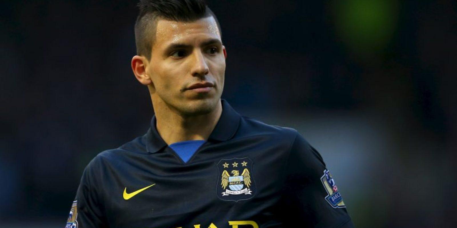 """Otro latino destacado. El """"Kun"""", atacante del Manchester City también ha tenido éxito con la venta de sus camisetas. Foto:Getty Images"""