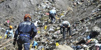 Los restos del avión que se estrelló en el sur de Fancia Foto:Getty
