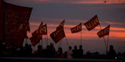 Sindicatos y opositores se unen para reclamar la inflación del impuesto a la renta. Foto:AP