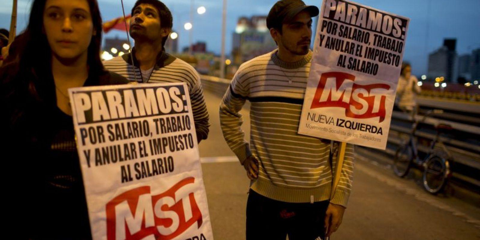 Los manifestantes iniciaron la movilización en la madrugada del martes. Foto:AP