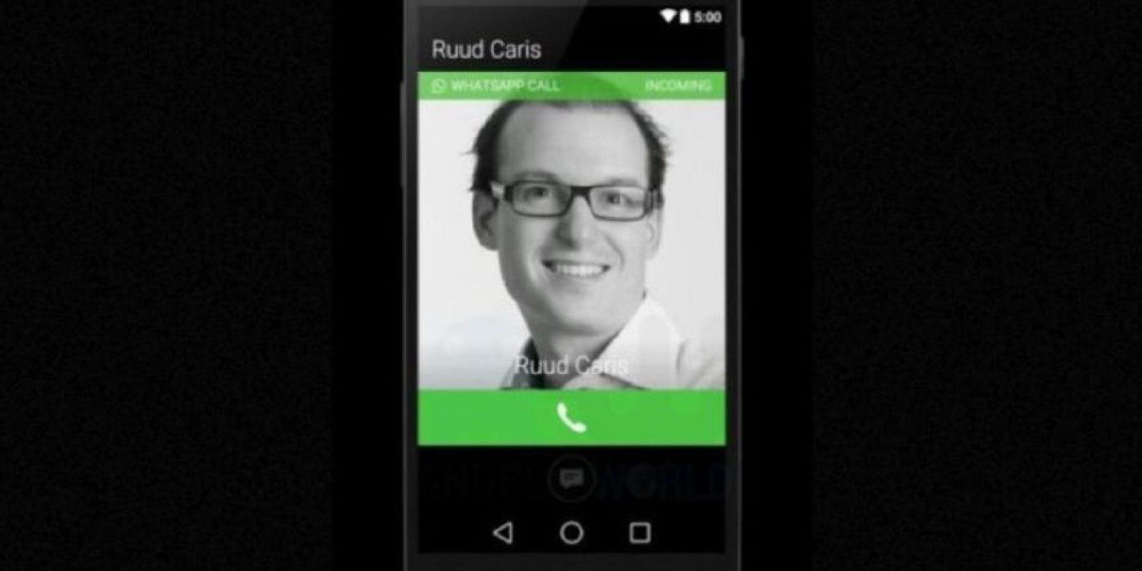 Así se ve la pantalla cuando están llamando. Foto:Android World
