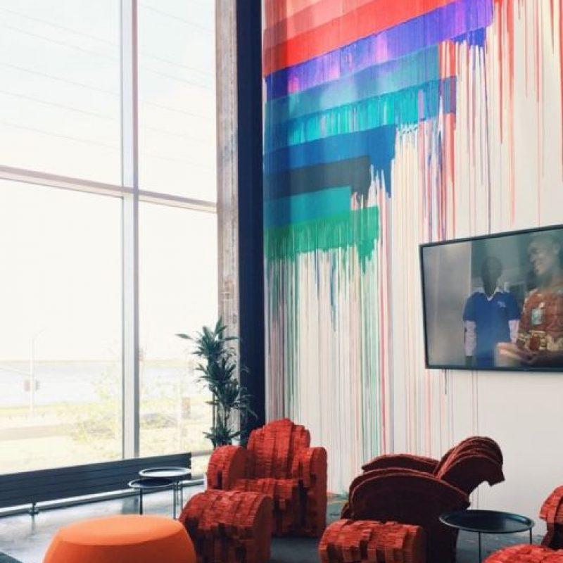 Artistas intervinieron las paredes del nuevo edificio. Foto:instagram.com/shali