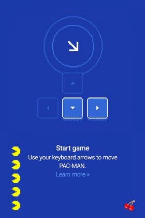 Pac-Man se controla con las flechas en el teclado. Foto:Google Maps