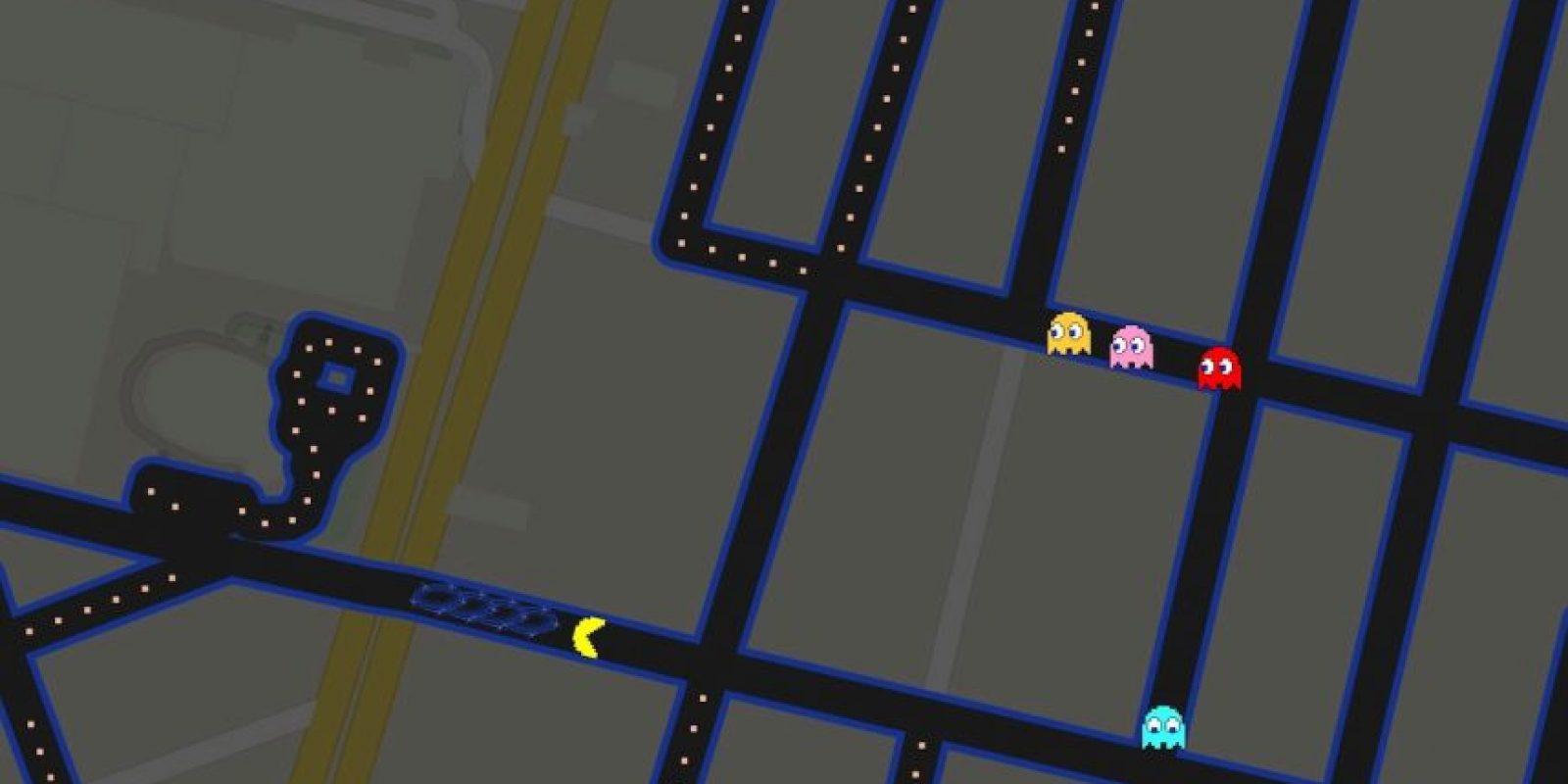 Pac-Man está invadiendo las calles del mundo en Google Maps. Foto:Google Maps