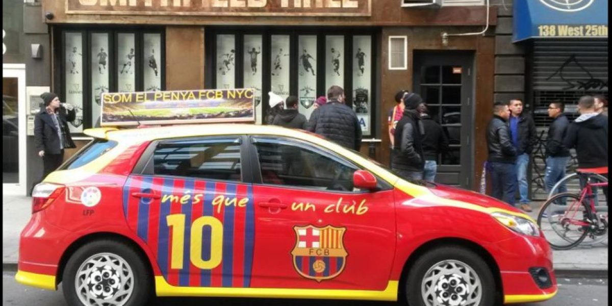 Le dedican un carro a Messi