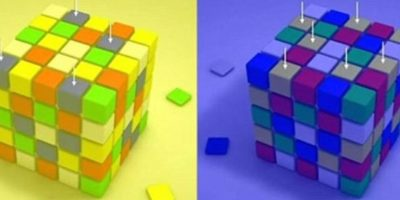 Esto hace que no podamos ver la realidad tal y como es. Esto sucede debido a lo que rodea la imagen, que hace que el cerebro decodifique la información en estos dos colores. En este cubo Rubik, los cuadros señalados son del mismo tono. Foto:Facebook