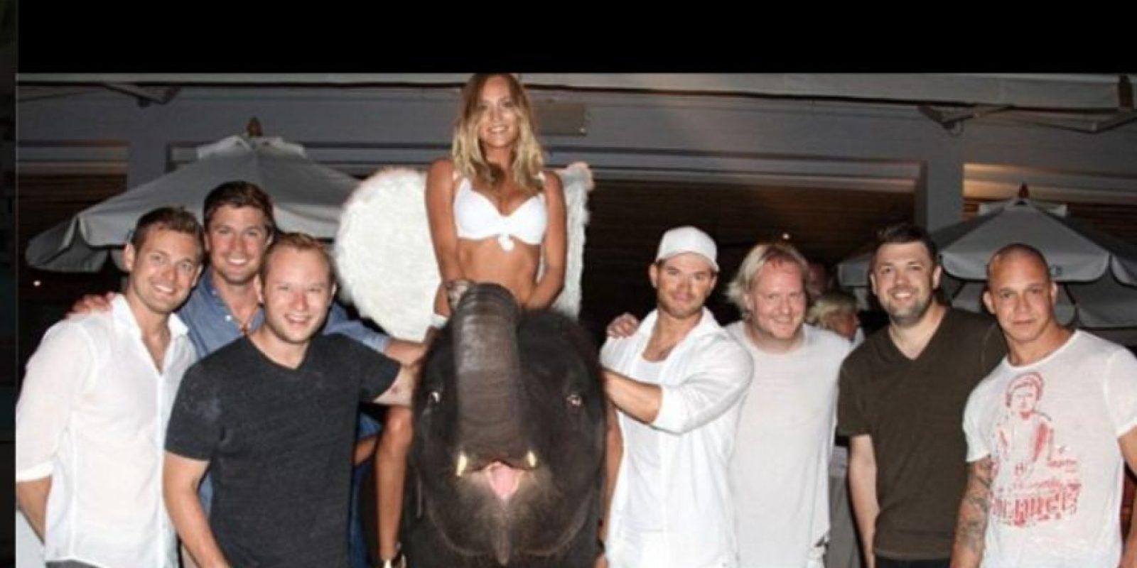 """Sin embargo, compartió: """"A partir de ahora queda prohibido a los asistentes la petición de elefantes a sus fiestas"""" Foto:Vía Facebook / Wildlife Friends Foundation Thailand"""