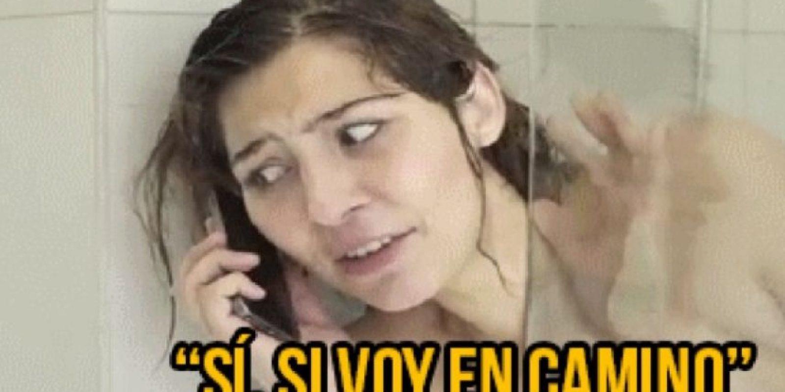 10. Que digan que salen en cinco minutos cuando apenas se metieron a bañar, compartió Belelú. Foto:Tumblr.com/Tagged-mujeres
