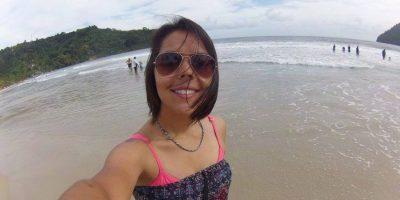 Paula Guillén, en una de las playas de Trinidad y Tobago. Foto:Paula Guillén