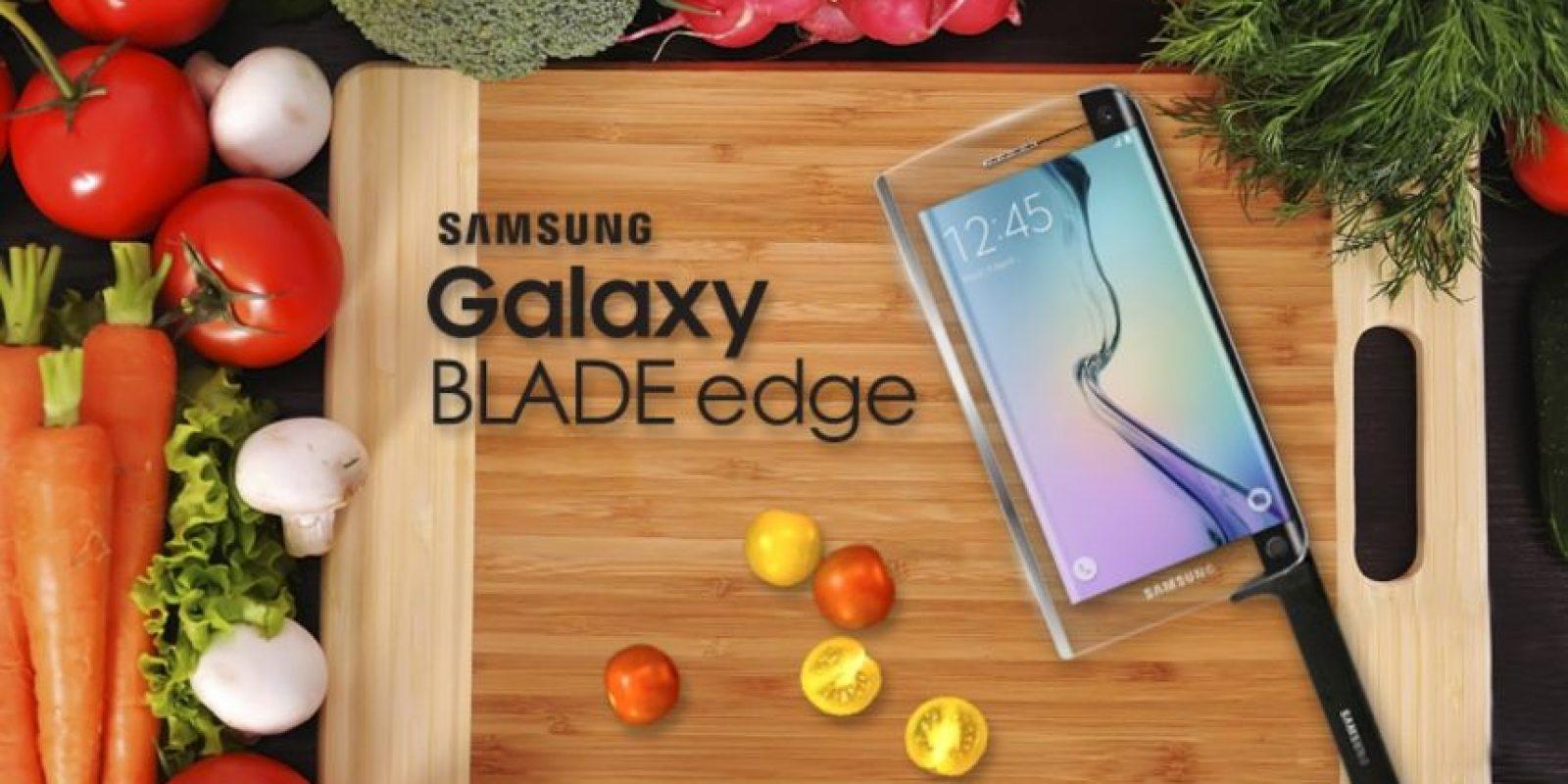 Se trataría del primer smartphone que también funciona como cuchillo. Foto:Samsung
